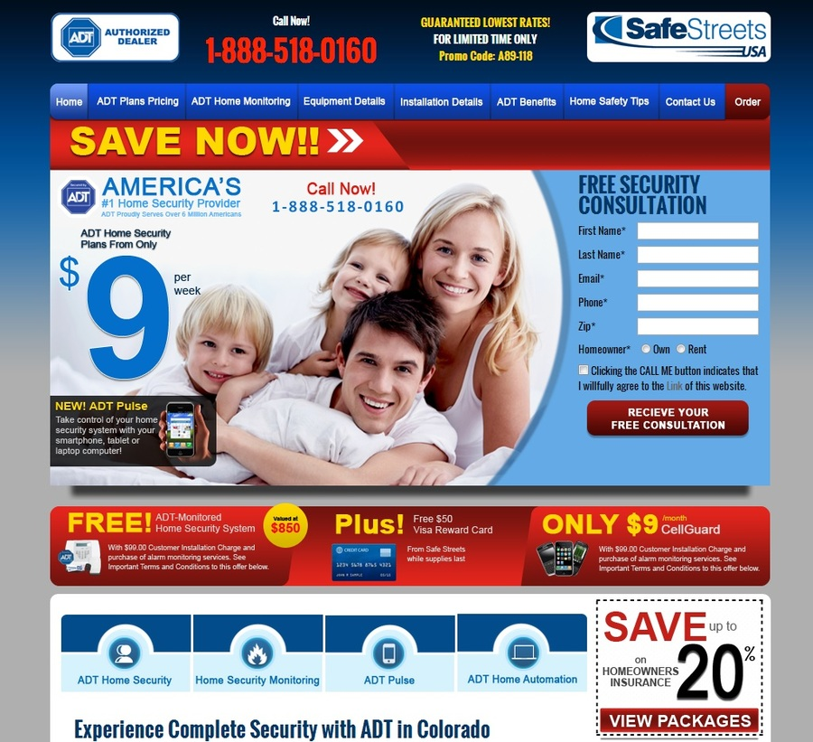 A great web design by Semi Seek Home Security Deals, Vancouver, Canada:
