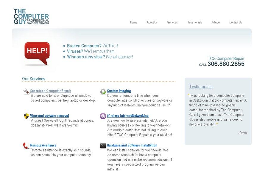 A great web design by Twelve Design, Saskatoon, Canada: