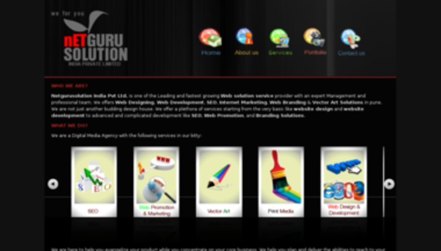 A great web design by Netgurusolution India Pvt.Ltd, Pune, India: