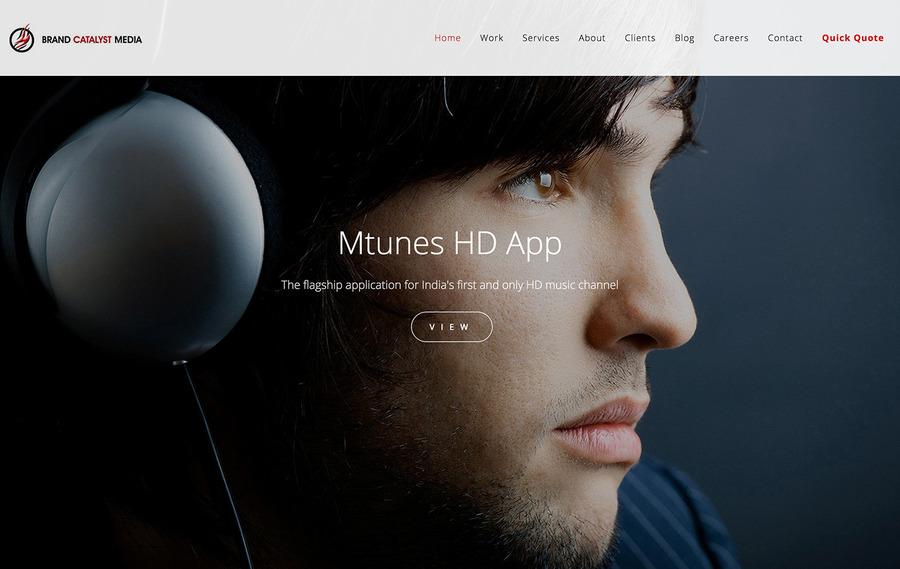 A great web design by Brand Catalyst Media, Mumbai, India: