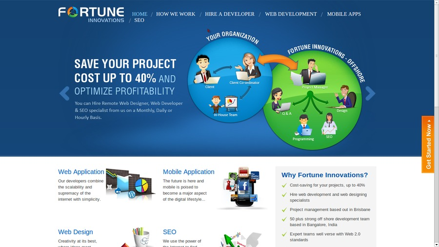 A great web design by Fortune Innovation Brisbane, Brisbane, Australia:
