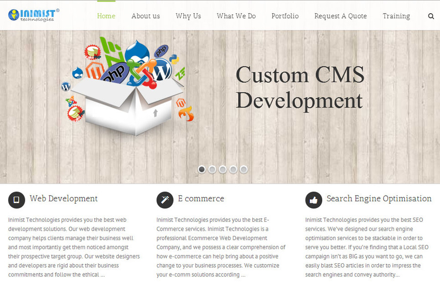 A great web design by Inimist Technologies, Chandigarh, India:
