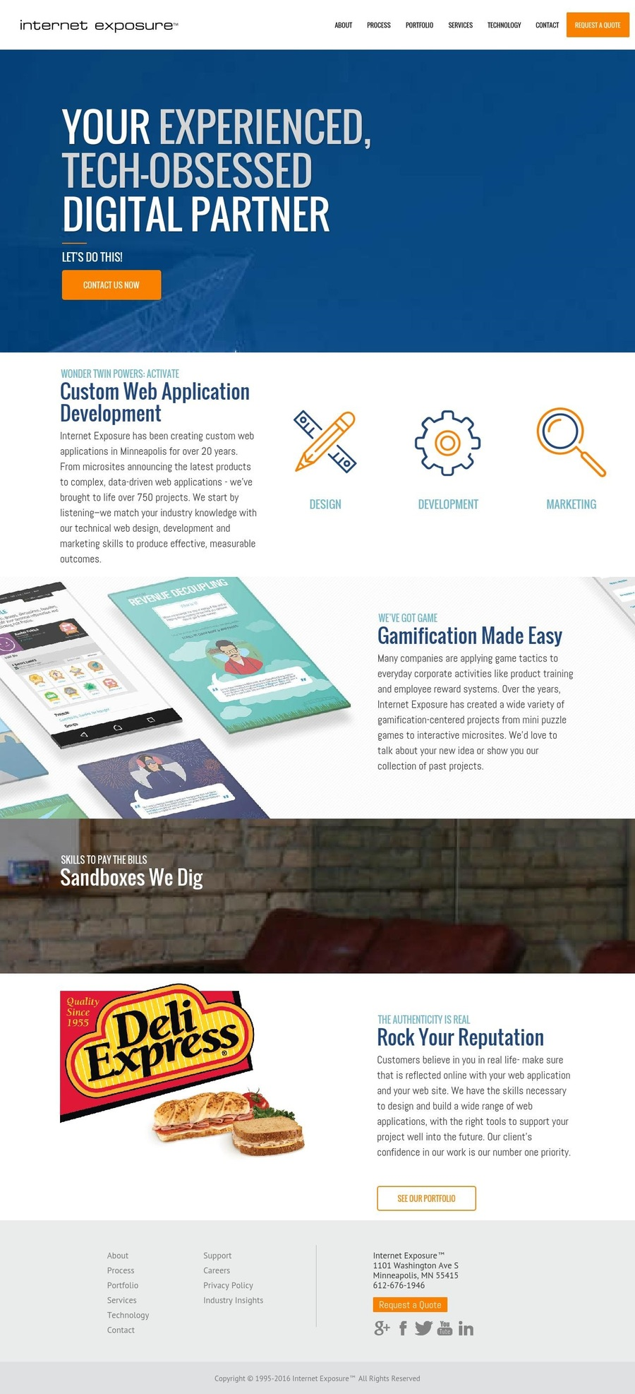 A great web design by Internet Exposure, Minneapolis, MN: Responsive Website, Marketing Website , Internet , Ruby on Rails