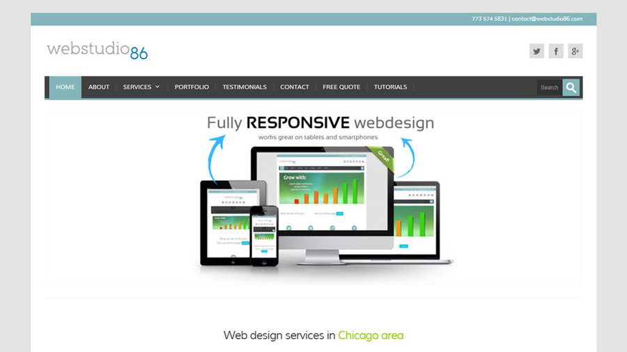 A great web design by webstudio86, Chicago, IL: