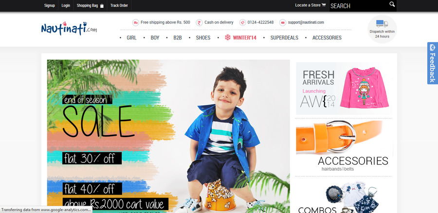 A great web design by abledit, Delhi, India: Mobile Website, E-Commerce , Retail , Magento