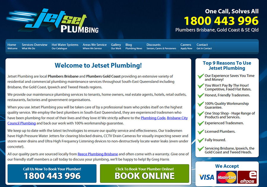 A great web design by Jetset Marketing, Gold Coast, Australia: