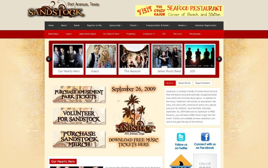 A great web design by Crossover Consulting, Port Aransas, TX: