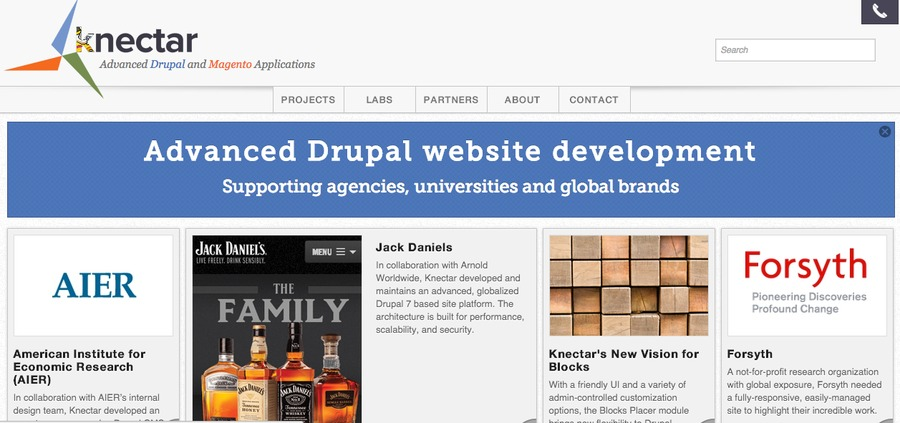 A great web design by Knectar Design, Boston, MA: Responsive Website, Portfolio , Technology , Drupal