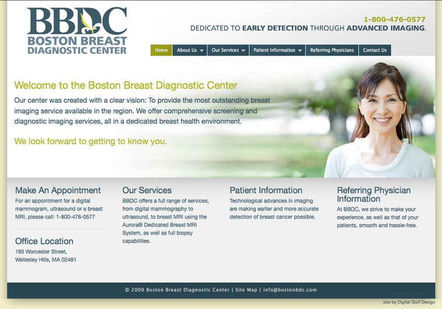 A great web design by Digital Quill Design, Boston, MA: