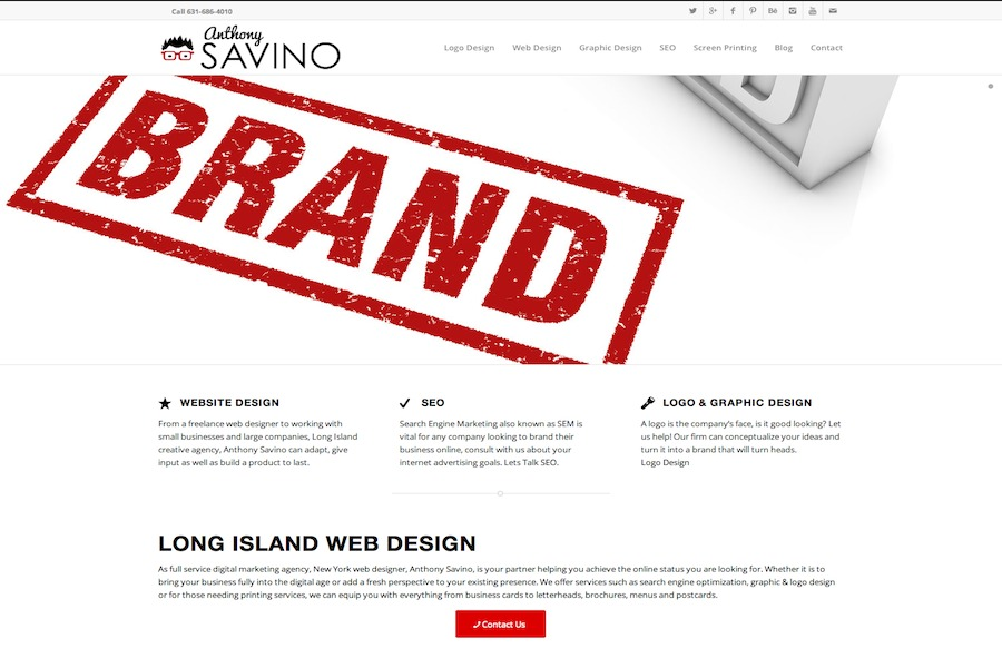 A great web design by Anthony Savino, New York, NY: