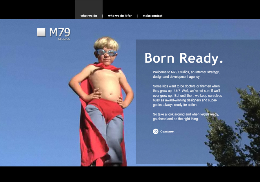 A great web design by M79 Studios Inc., Toronto, Canada: