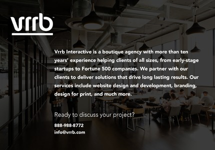 A great web design by Vrrb Interactive, New York, NY: