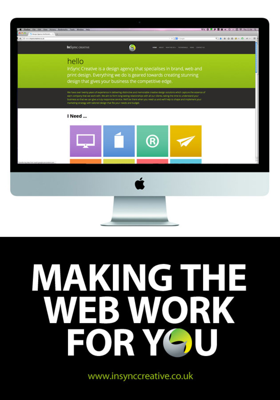 A great web design by InSync Creative, Hertfordshire, United Kingdom: