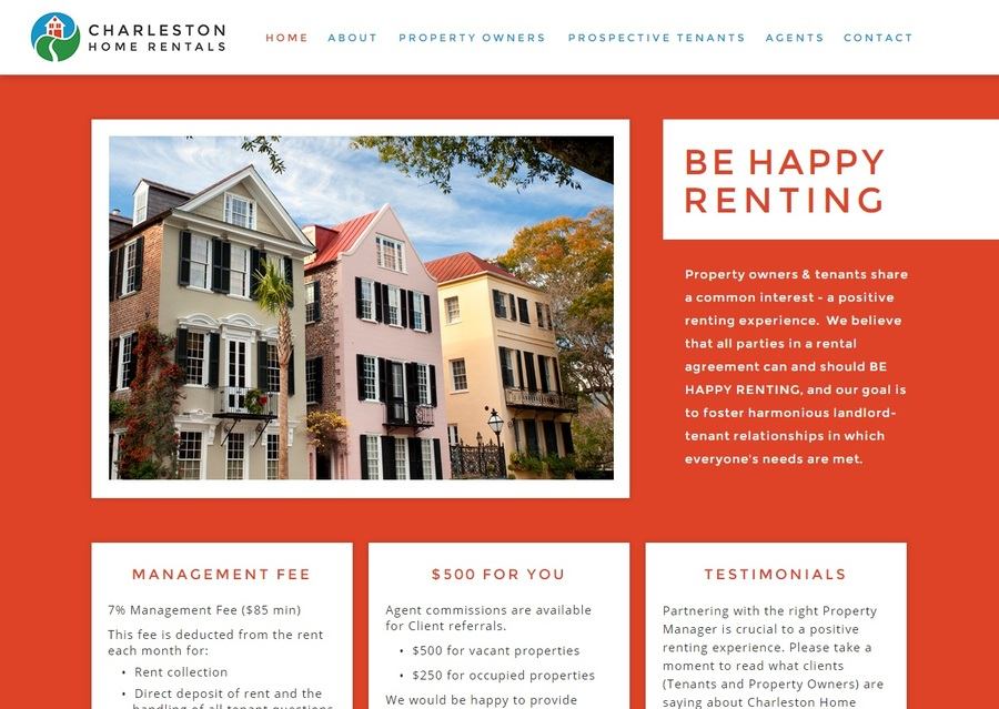 A great web design by Rooted ID, Charleston, SC: