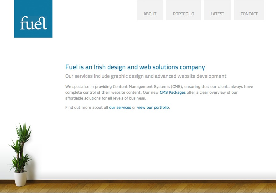 A great web design by Fuel, Dublin, Ireland: