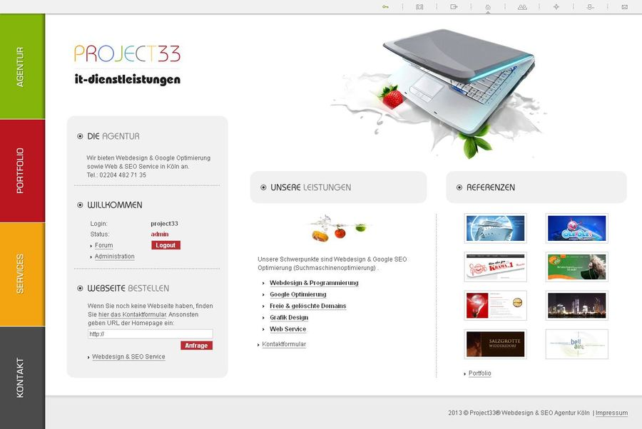 A great web design by Project33 - Webdesign & SEO Agentur, Cologne, Germany: Website, Portfolio , Marketing , PHP
