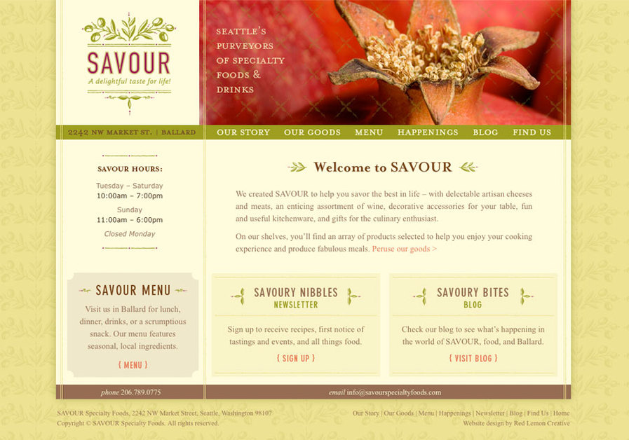 A great web design by Red Lemon Creative, Portland, OR: