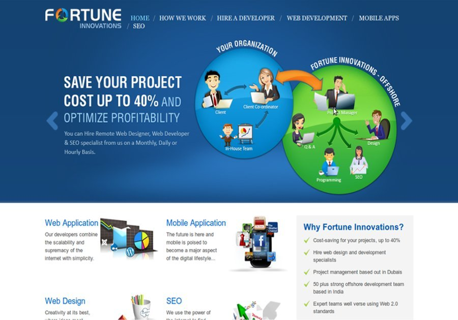 A great web design by Fortune Innovations Dubai, Dubai, United Arab Emirates: