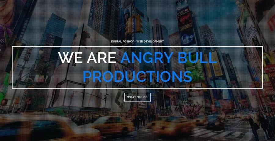 A great web design by Angry Bull Productions, Houston, TX: