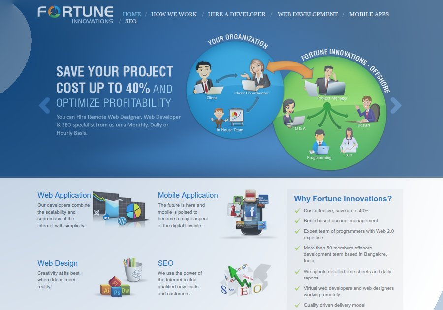 A great web design by Fortune Innovation Berlin, Berlin, Germany: