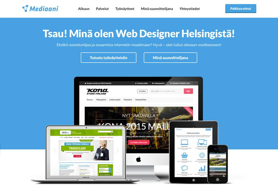 A great web design by Mediaani, Helsinki, Finland: