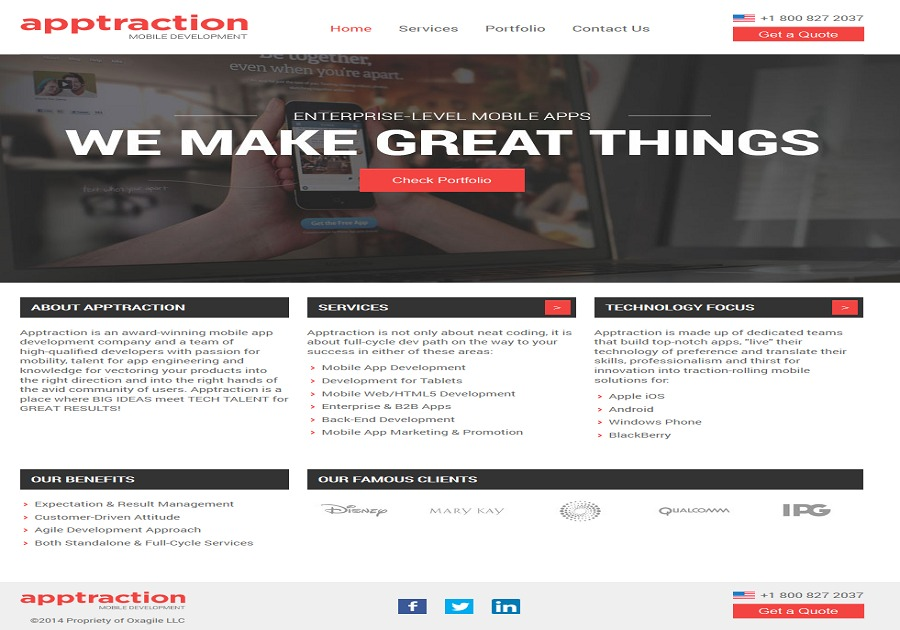 A great web design by Apptraction, New York, NY: