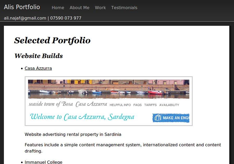 A great web design by Najaf Ali, London, United Kingdom: