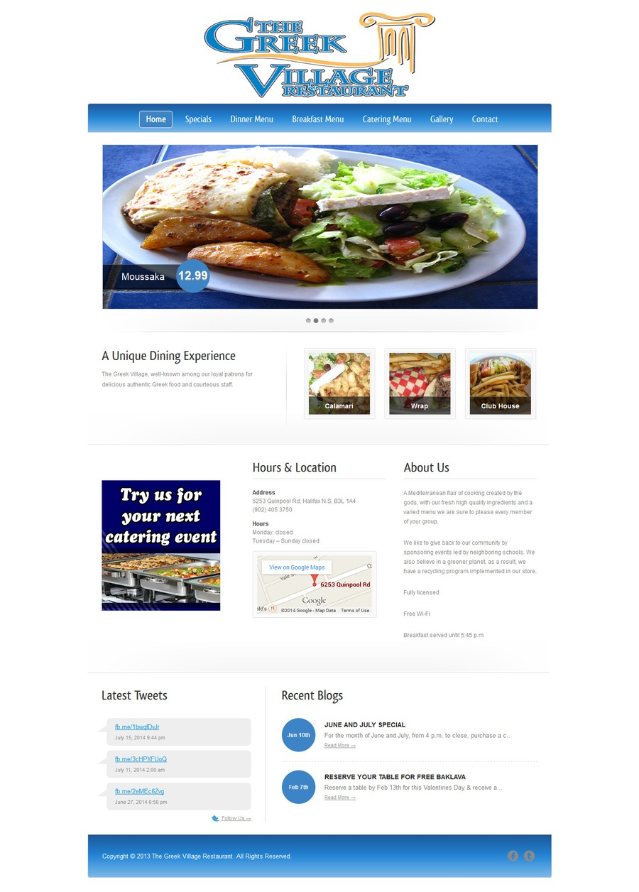 A great web design by WEBXDESIGN, Calgary, Canada: Website, Marketing Website , Restaurants & Bars, Wordpress
