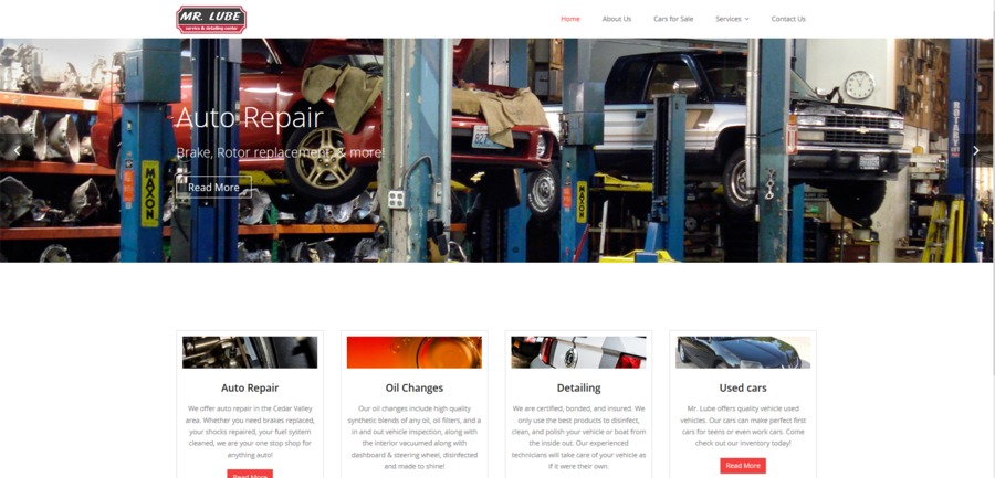 A great web design by GearSite, Waterloo, IA: Automotive
