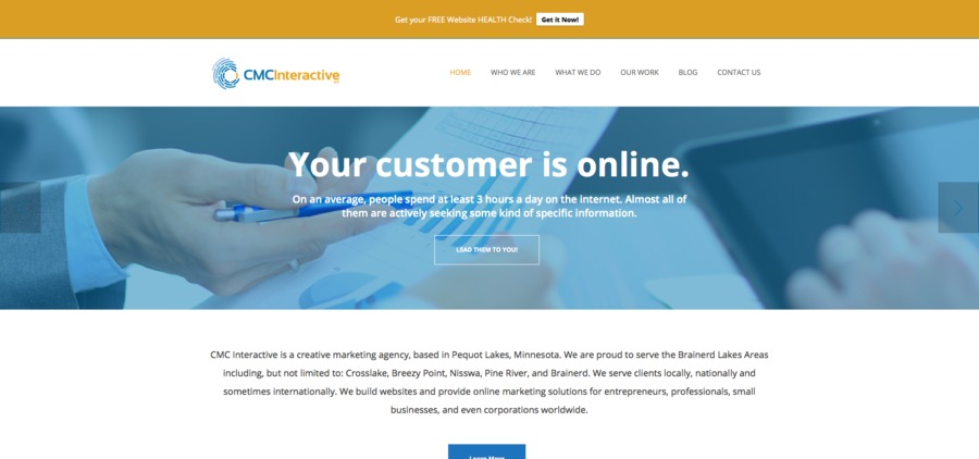 A great web design by CMC Interactive, Minneapolis, MN: