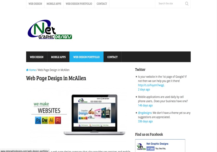 A great web design by Net Graphic Designs, McAllen, TX: