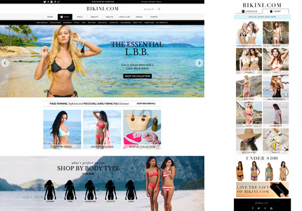 A great web design by Great Minds Design, Los Angeles, CA: Responsive Website, E-Commerce , Fashion , Magento
