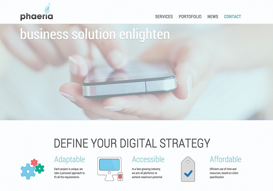 A great web design by phaeria, Southport, United Kingdom: