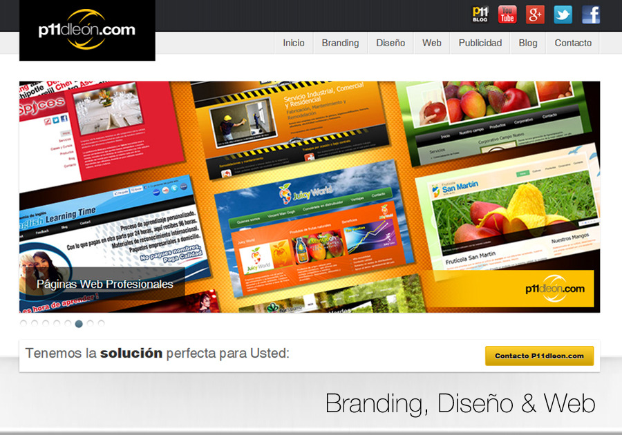 A great web design by P11dleon.com, Guadalajara, Mexico: