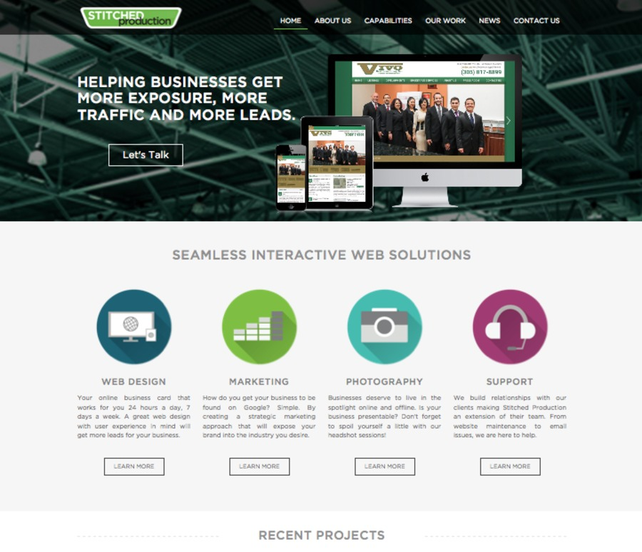 A great web design by Stitched Production, Miami, FL: