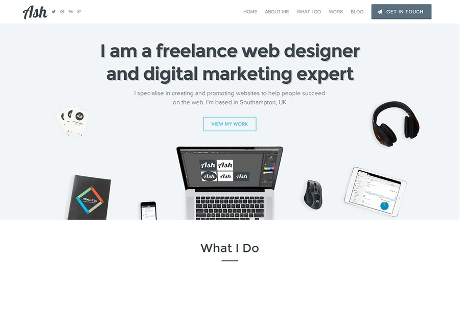 A great web design by Ash Stallard-Phillips, Southampton, United Kingdom: