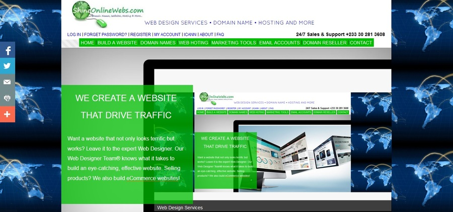 A great web design by ShineDaddy.com, Accra, Ghana:
