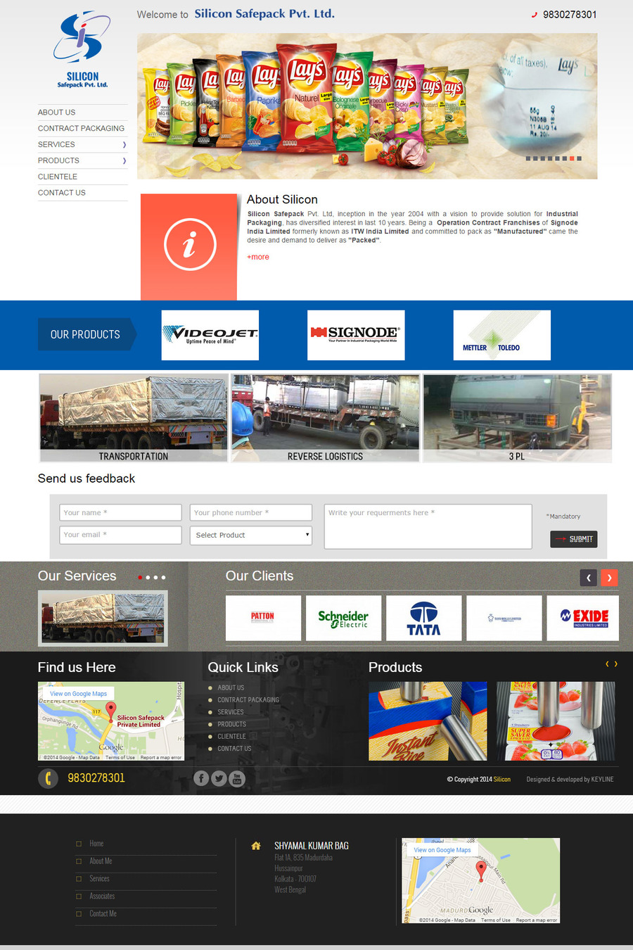 A great web design by Keyline Creative Services, Kolkata, India: