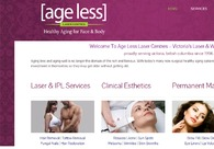 A great web design by Age Less Laser Centers, Victoria, Canada:
