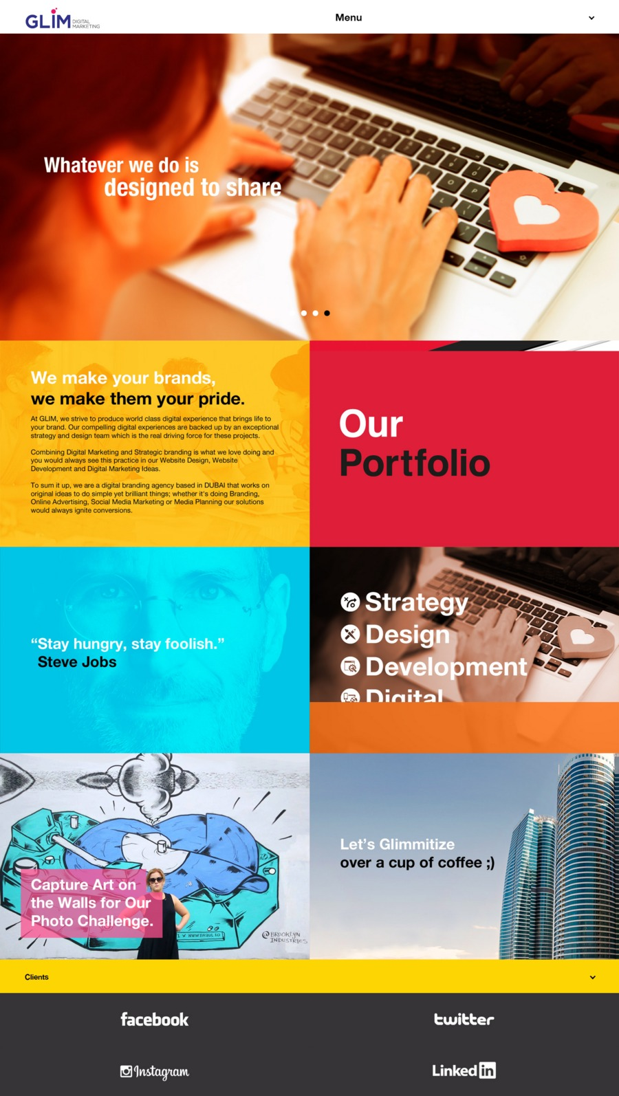 A great web design by Glim Branding Agency, Dubai, United Arab Emirates: