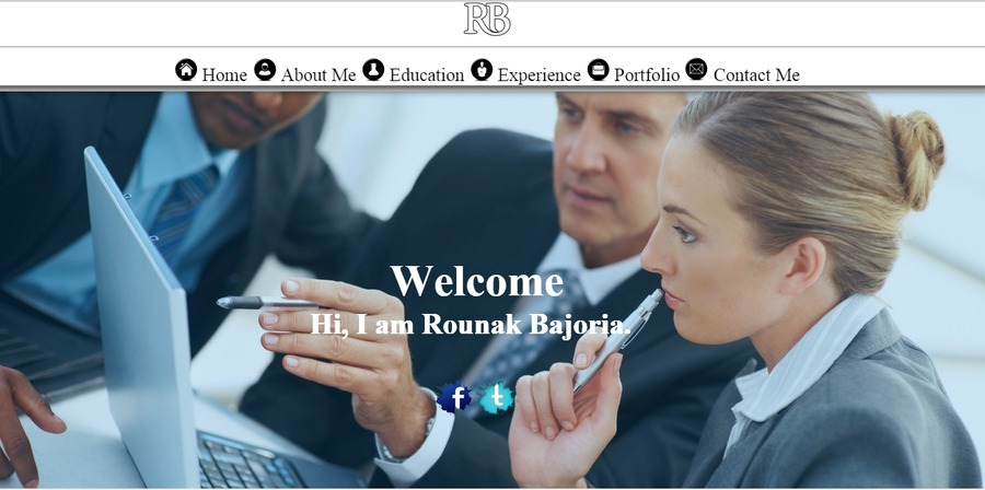 A great web design by Rounak Bajoria, Jaipur, India: