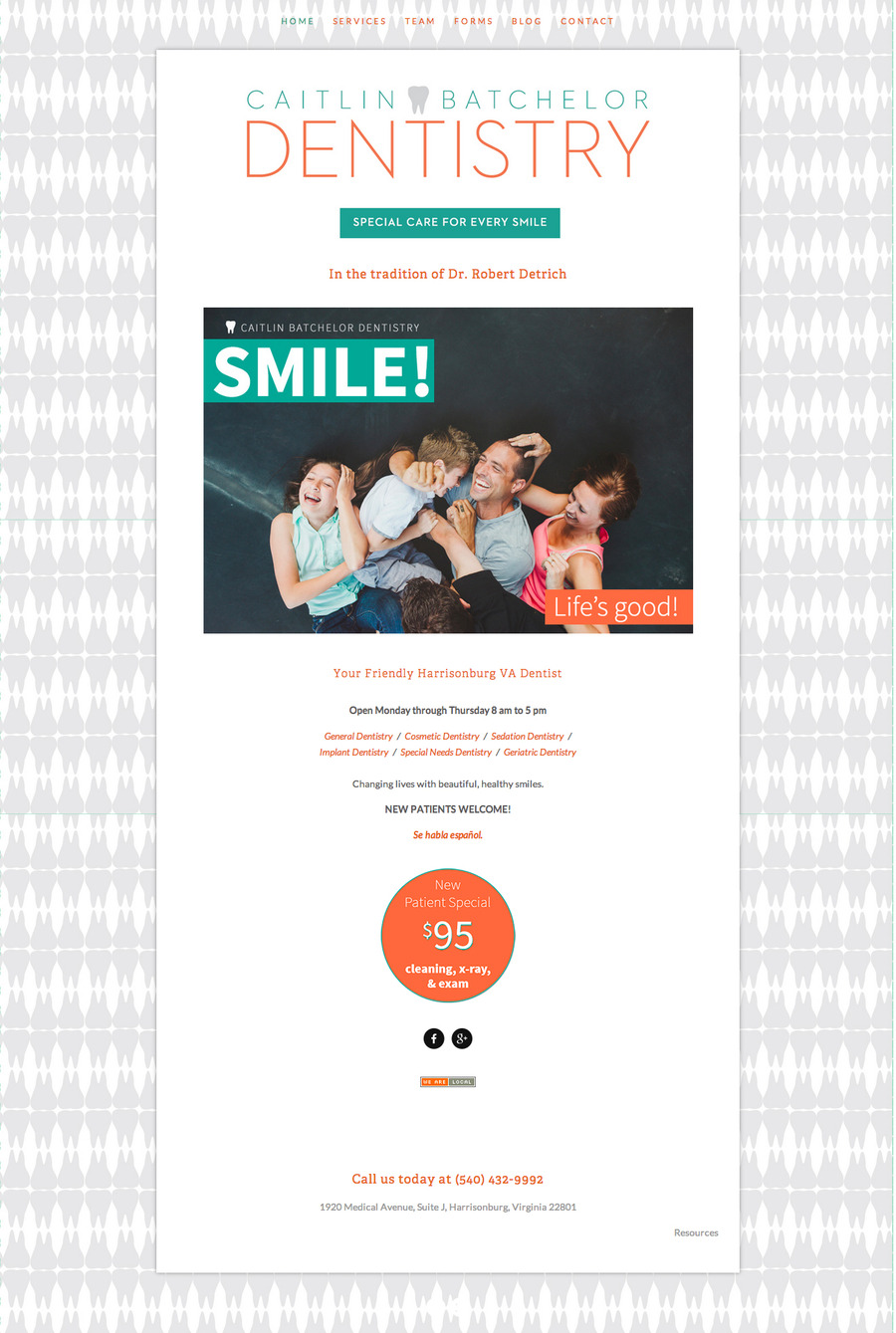 A great web design by Kyle Rogers Web Design, Harrisonburg, VA: Responsive Website, Marketing Website , Healthcare, Other