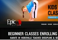 A great web design by Epic Martial Arts, New York, NY: Website, Marketing Website , Sports & Fitness