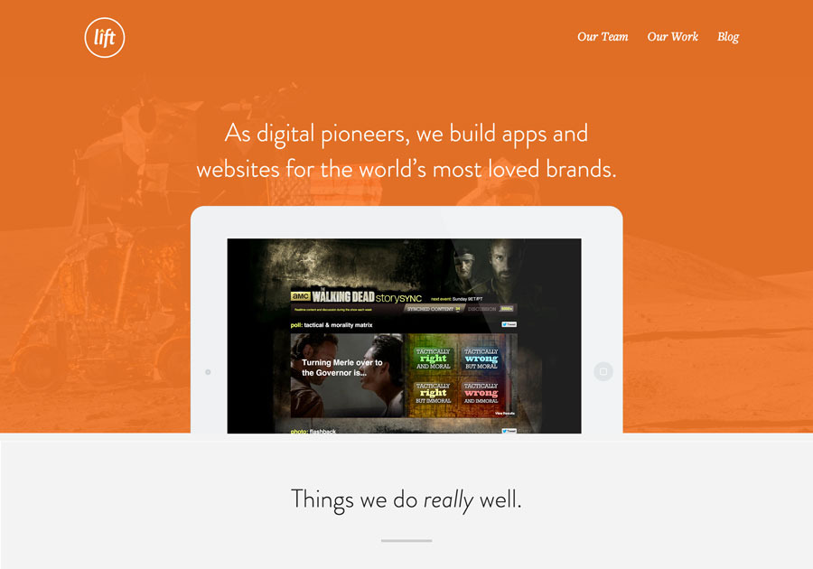 A great web design by Lift - A User Experience Design Agency, Dallas, TX: Responsive Website, Portfolio , Software , Wordpress