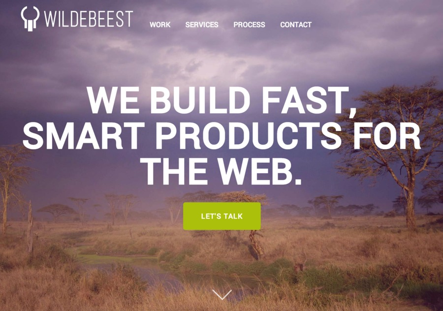 A great web design by Wildebeest, Los Angeles, CA: