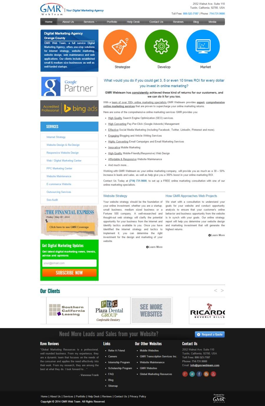 A great web design by GMR Web Team, Tustin, CA: