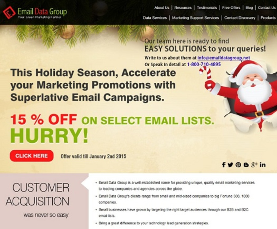 A great web design by Email Data Group, Columbus, OH: Responsive Website, Marketing Website , Marketing