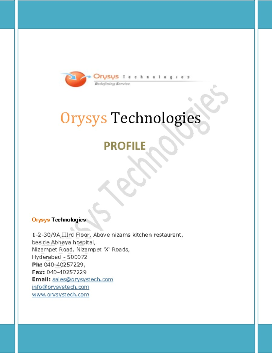 A great web design by Orysys Technologies, Hyderabad, India: Portfolio