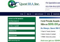 A great web design by Quest IRA - IRA investing, Houston, TX: