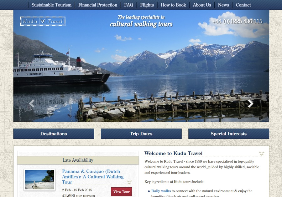 A great web design by Webbed Feet UK, Salisbury, United Kingdom: Responsive Website, Web Application , Travel , PHP